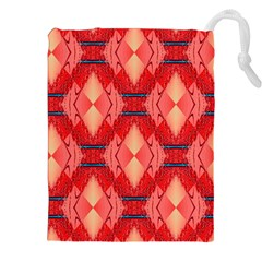 Orange Fractal Background Drawstring Pouches (xxl) by Simbadda