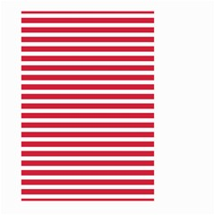 Horizontal Stripes Red Large Garden Flag (two Sides) by Mariart
