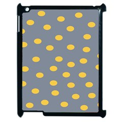 Limpet Polka Dot Yellow Grey Apple Ipad 2 Case (black) by Mariart
