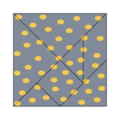 Limpet Polka Dot Yellow Grey Acrylic Tangram Puzzle (6  X 6 ) by Mariart