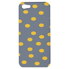 Limpet Polka Dot Yellow Grey Apple Iphone 5 Hardshell Case by Mariart