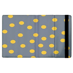 Limpet Polka Dot Yellow Grey Apple Ipad 2 Flip Case by Mariart