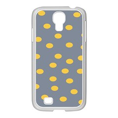 Limpet Polka Dot Yellow Grey Samsung Galaxy S4 I9500/ I9505 Case (white) by Mariart