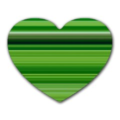 Horizontal Stripes Line Green Heart Mousepads by Mariart