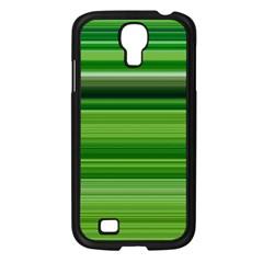 Horizontal Stripes Line Green Samsung Galaxy S4 I9500/ I9505 Case (black) by Mariart