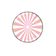 Hurak Pink Star Yellow Hole Sunlight Light Hat Clip Ball Marker (10 Pack) by Mariart