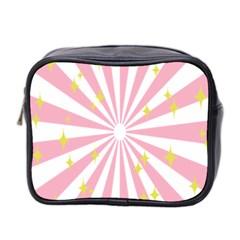 Hurak Pink Star Yellow Hole Sunlight Light Mini Toiletries Bag 2 Side by Mariart