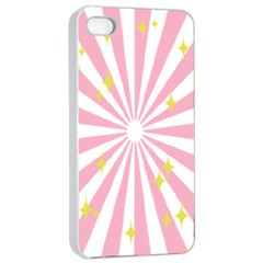 Hurak Pink Star Yellow Hole Sunlight Light Apple Iphone 4/4s Seamless Case (white) by Mariart