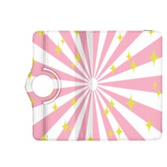 Hurak Pink Star Yellow Hole Sunlight Light Kindle Fire Hdx 8 9  Flip 360 Case by Mariart