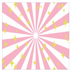 Hurak Pink Star Yellow Hole Sunlight Light Large Satin Scarf (square) by Mariart