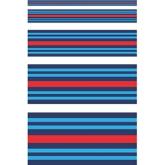 Martini Style Racing Tape Blue Red White 5 5  X 8 5  Notebooks by Mariart