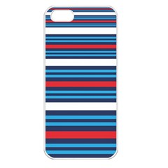 Martini Style Racing Tape Blue Red White Apple Iphone 5 Seamless Case (white) by Mariart