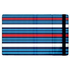 Martini Style Racing Tape Blue Red White Apple Ipad 3/4 Flip Case by Mariart