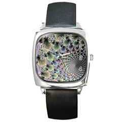 Beautiful Image Fractal Vortex Square Metal Watch by Simbadda