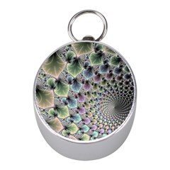 Beautiful Image Fractal Vortex Mini Silver Compasses by Simbadda