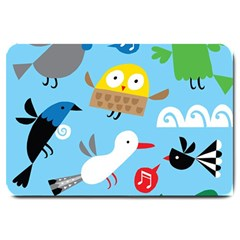 New Zealand Birds Close Fly Animals Large Doormat  by Mariart