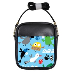 New Zealand Birds Close Fly Animals Girls Sling Bags by Mariart