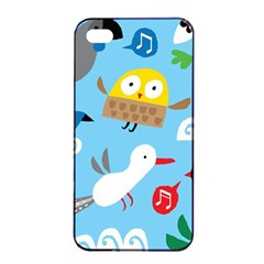 New Zealand Birds Close Fly Animals Apple Iphone 4/4s Seamless Case (black) by Mariart