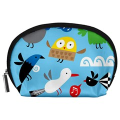 New Zealand Birds Close Fly Animals Accessory Pouches (large)  by Mariart