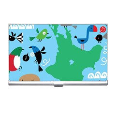 New Zealand Birds Detail Animals Fly Business Card Holders by Mariart