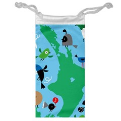 New Zealand Birds Detail Animals Fly Jewelry Bag by Mariart