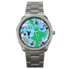 New Zealand Birds Detail Animals Fly Sport Metal Watch by Mariart