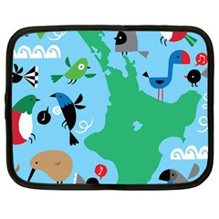 New Zealand Birds Detail Animals Fly Netbook Case (large) by Mariart