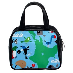 New Zealand Birds Detail Animals Fly Classic Handbags (2 Sides) by Mariart
