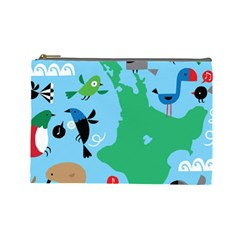 New Zealand Birds Detail Animals Fly Cosmetic Bag (large)  by Mariart