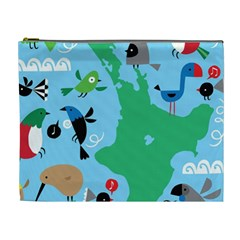 New Zealand Birds Detail Animals Fly Cosmetic Bag (xl) by Mariart