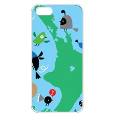 New Zealand Birds Detail Animals Fly Apple Iphone 5 Seamless Case (white) by Mariart