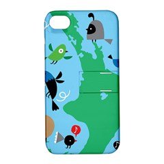 New Zealand Birds Detail Animals Fly Apple Iphone 4/4s Hardshell Case With Stand by Mariart