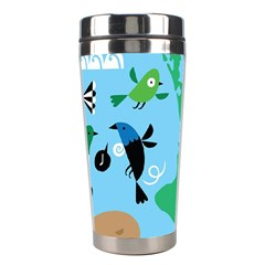 New Zealand Birds Detail Animals Fly Stainless Steel Travel Tumblers by Mariart