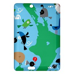 New Zealand Birds Detail Animals Fly Amazon Kindle Fire Hd (2013) Hardshell Case by Mariart