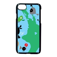 New Zealand Birds Detail Animals Fly Apple Iphone 7 Seamless Case (black) by Mariart