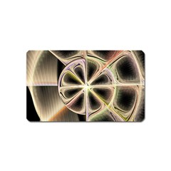 Background With Fractal Crazy Wheel Magnet (name Card) by Simbadda