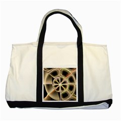 Background With Fractal Crazy Wheel Two Tone Tote Bag by Simbadda