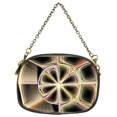 Background With Fractal Crazy Wheel Chain Purses (two Sides)  by Simbadda