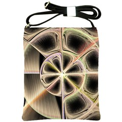 Background With Fractal Crazy Wheel Shoulder Sling Bags by Simbadda