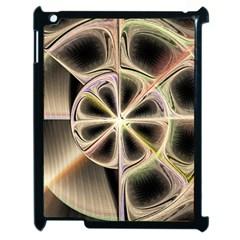 Background With Fractal Crazy Wheel Apple Ipad 2 Case (black) by Simbadda