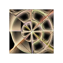 Background With Fractal Crazy Wheel Acrylic Tangram Puzzle (4  X 4 ) by Simbadda