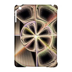 Background With Fractal Crazy Wheel Apple Ipad Mini Hardshell Case (compatible With Smart Cover) by Simbadda