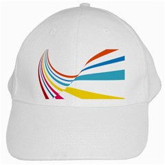 Line Rainbow Orange Blue Yellow Red Pink White Wave Waves White Cap by Mariart