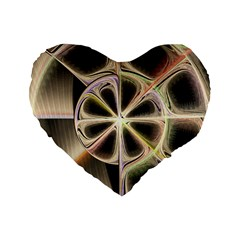 Background With Fractal Crazy Wheel Standard 16  Premium Heart Shape Cushions by Simbadda