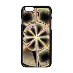Background With Fractal Crazy Wheel Apple Iphone 6/6s Black Enamel Case by Simbadda