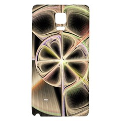 Background With Fractal Crazy Wheel Galaxy Note 4 Back Case by Simbadda