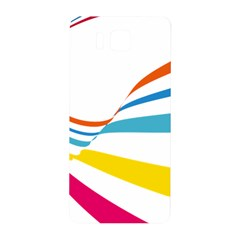 Line Rainbow Orange Blue Yellow Red Pink White Wave Waves Samsung Galaxy Alpha Hardshell Back Case by Mariart