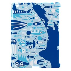 New Zealand Fish Detail Blue Sea Shark Apple Ipad 3/4 Hardshell Case (compatible With Smart Cover) by Mariart