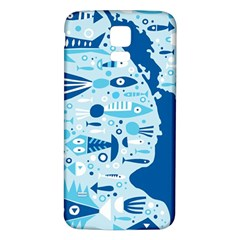 New Zealand Fish Detail Blue Sea Shark Samsung Galaxy S5 Back Case (white) by Mariart