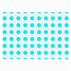 Polka Dot Blue White Large Glasses Cloth by Mariart